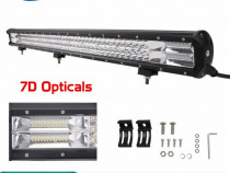 Led-bar- 28inch 396w 7d+ cree led work light bar tri-ro
