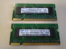Memorie RAM Laptop Samsung 512MB 2 buc. 1GB SODIMM DDR2 533