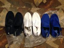 Adidasi albastru alb negru din panza