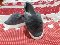 Pantofi dama casual cu blanita