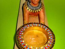 8402-Stativ vintage Egipt Cleopatra rasina stare buna.