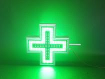 Cruce farmacie LED fata dubla 40 x 40 cm pentru EXTERIOR