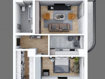 Apartament 2 camere, 65mp, model decomandat Metalurgie
