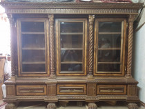 Biblioteca nuc, cu 3 uşi, stil florentin, unicat
