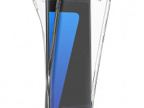 Samsung A6 2018 A8 2018 Husa 360 Silicon Clar Fata Spate