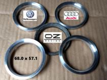 Inele de centrare aluminiu Jante OZ la ∅ 57.1 pt. VW Audi