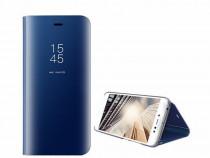 Husa Telefon Flip Book Clear View Huawei P20 Lite Dark Blue