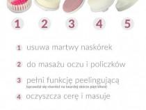 Aparat perie de masaj si ingrijire faciala 5-in-1