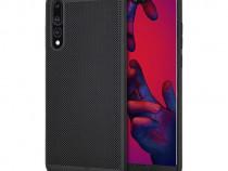 Husa Telefon Plastic Huawei P20 Pro Mesh Black PRODUS NOU