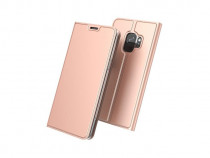 Husa Telefon Flip Book Samsung Galaxy S9 g960 Rose Gold NOU