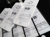 Iphone 6 6+ 7 7+ 8 8+ Folie Stilca Securizata Curbata 6D Alb