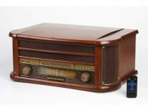 Centru Muzical Gramofon Retro Camry cu CD Player,