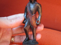 Arta Africana Miniatura,Vintage-sculptata in lemn-cadou rar