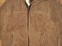 Geaca,jacketa lunga tom tailor originala piele naturala, 50