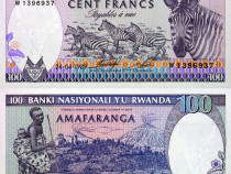 Lot 6 bancnote rwanda 1988-2019 - unc