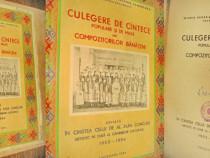 Culegere Cantece epoca comunista compozitori banateni Timis.