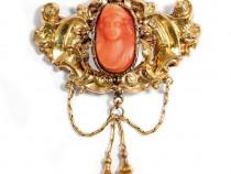 Brosa antika aur anul1845 unikat
