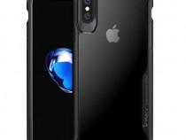 Husa Telefon Silicon + Plastic Apple iPhone XR Clear&Black A