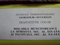 "COLECTIE: Diapozitive ""Munca Miscarea"" VINTAGE 1977"