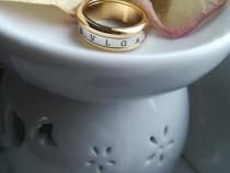 Inel dama fashion placat cu aur bvlgari / bulgari auriu