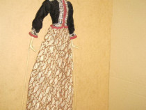 10074-Papusa mare orientala costum traditional lemn masiv.
