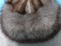 Caciula de blana de vulpe