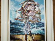 Tablou pictat acrilic 25cm -31cm