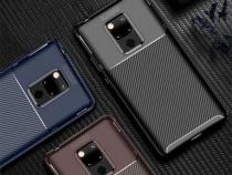 Huawei Mate 20 Pro - Husa Din Silicon Carbon Autofocus Neagr