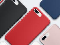 Iphone 7 7+ 8 8+ - Husa Din Silicon cu Interior de Catifea/P