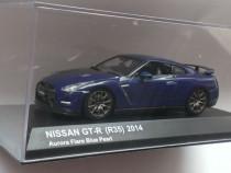 Macheta Nissan GTR R35 2014 Albastru - Kyosho 1/43 GT-R