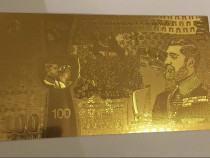 100 Lei Centenar Unire 2018 24k bancnota innobilata aur pur