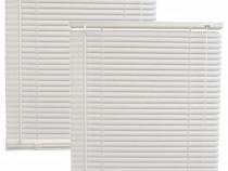 2x Jaluzele din plastic albe, PVC orizontapa 65x110cm