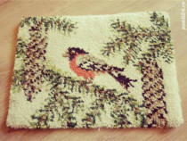 Covoras din lana (Junghans-Wolle) dimensiuni 46X33 cm