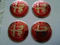 Set Embleme 3M roți Alfa Romeo diametrul 56 mm