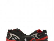 Pantofi protectie s1p,sparco,sport evo,rosu cu negru