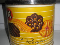 A234-Cutie veche Reigen patiserie biscuits metal stare buna.