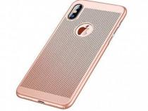 Husa Telefon Plastic Apple iPhone XS Max Mesh Rose Gold NOU