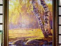 Tablou pictat manual pe panza in ulei Peisaj Toamna A-187
