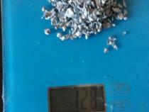 Resturi de argint topit amestecat cu aur alb si platina!!