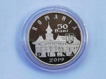 Moneda proof din alama 50 bani 2019 Manastirea Putna 550ani