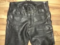 Pantaloni clasici din piele naturala ,piele groasa dar moale