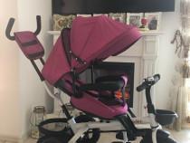 Triciclete noi cu pozitie de somn si scaun rotativ