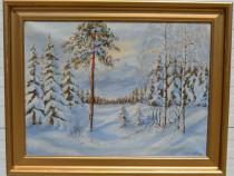 Tablou peisaj iarna