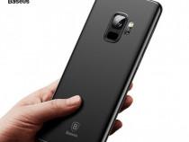 Samsung S8 S8+ S9 S9+ Husa Baseus Silicon Neagra + Folie Sil