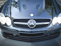 Prelungire splitter bara fata Mercedes CLK W209 03-09 v2