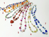 Reducere ! 15 coliere diverse culori si modele, din margele