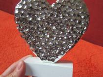 Inima argintie - decoratiune -un cadou inedit