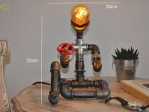 Lampa om steampunkdesigncj, lampa steampunk, corp iluminat