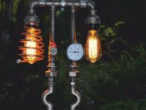 Lampa telefon steampunkdesign, lampa steampunk