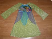 Costum carnaval serbare zana clopotica tinkerbell 7-8 ani